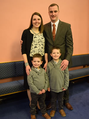 Pastor Jonny Ormerod, Jessica, Josiah and Jacob