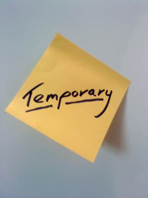 temporary definition what is